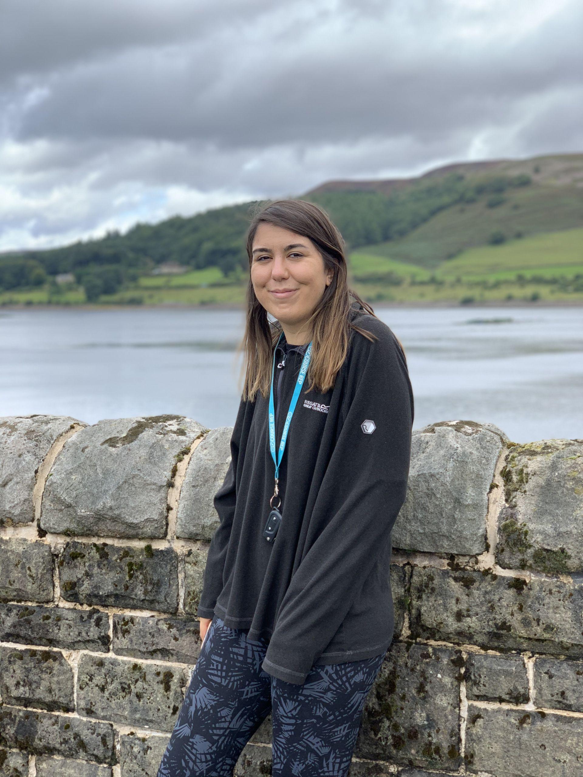 me stood in a black fleece at Ladybower reservoir