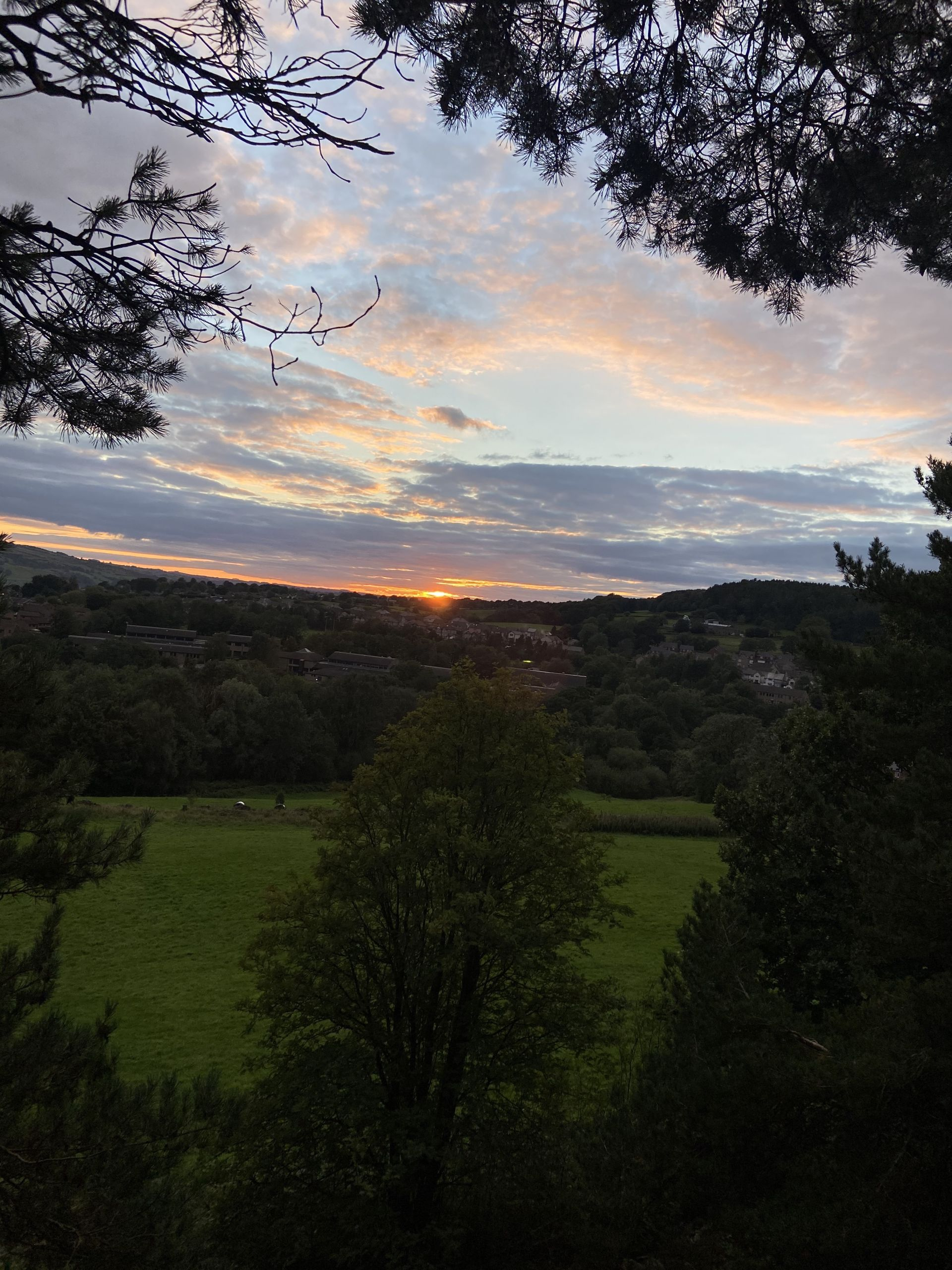 Sunset at Lumsdale in the Peak District