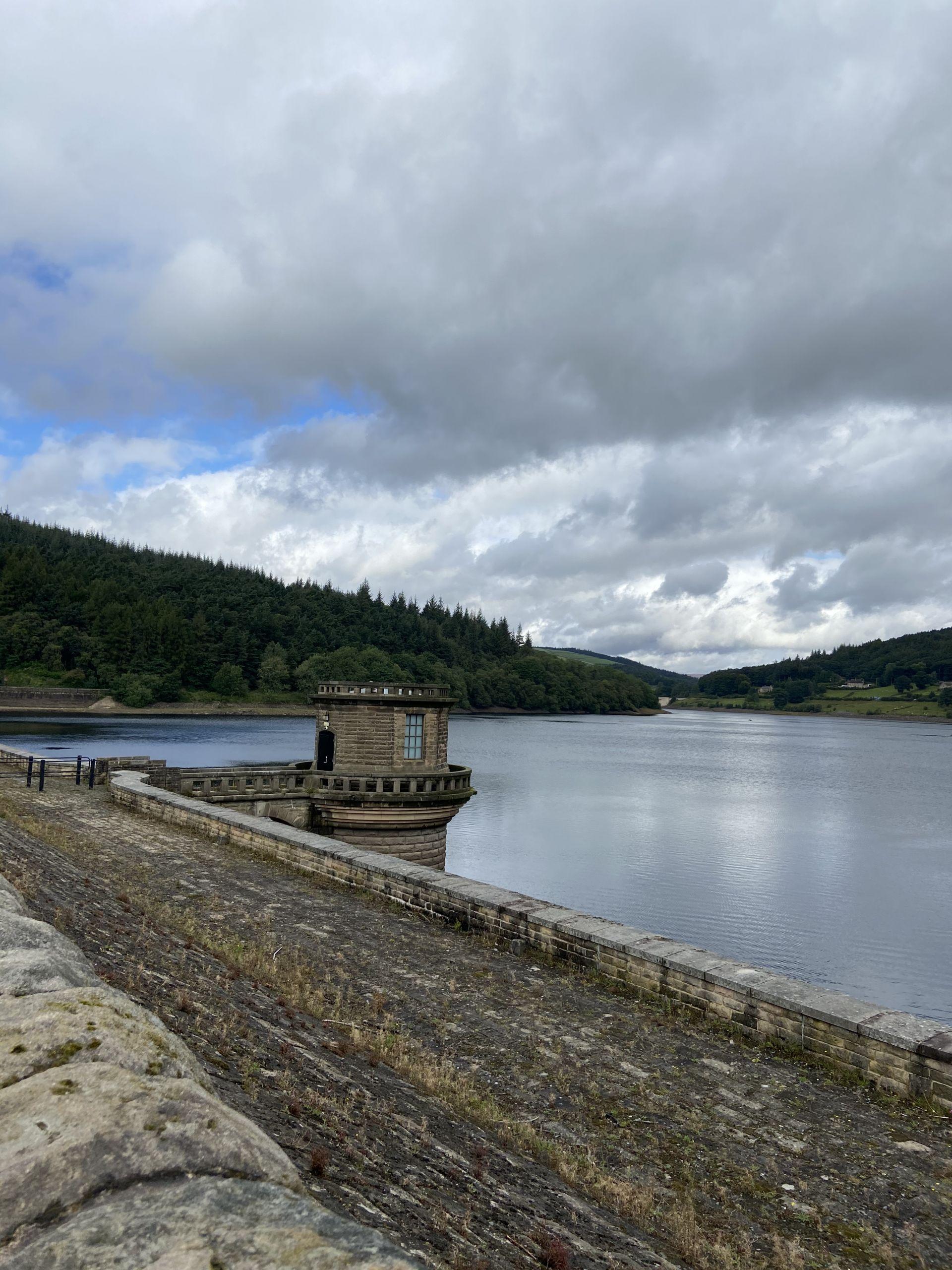 Ladybower Reservoir dam in the Peak District