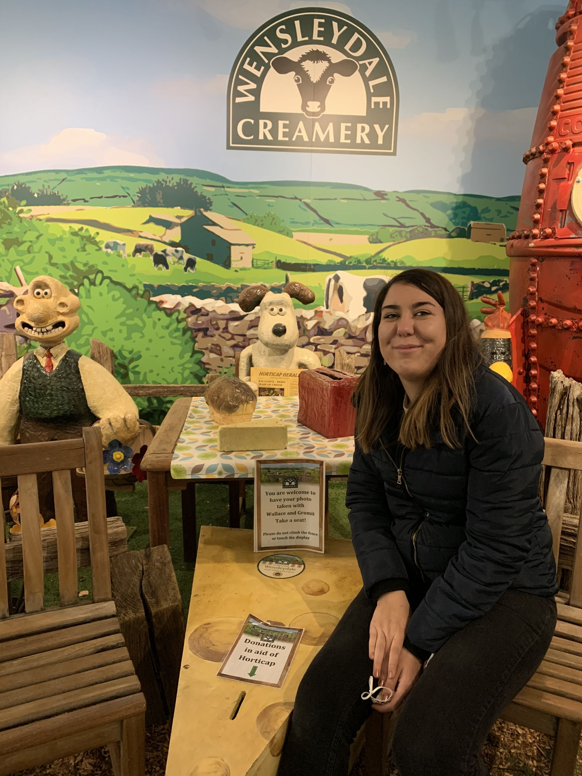 Wallace and Gromit at Wensleydale Creamery
