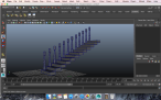 Perspective of Staircase Wireframe