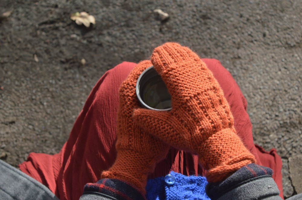 Fond mittens from the Something to Knit Together Winter Edition, designed by Natalie Warner and published by Arnall-Culliford Knitwear