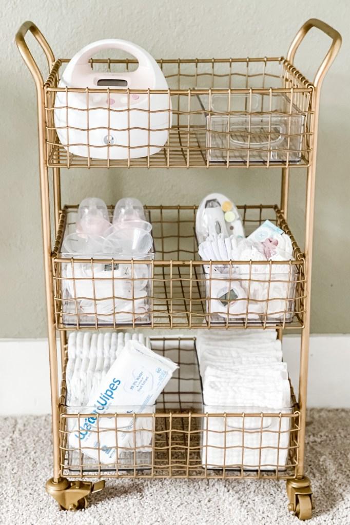Nursing / Diaper Cart Idea