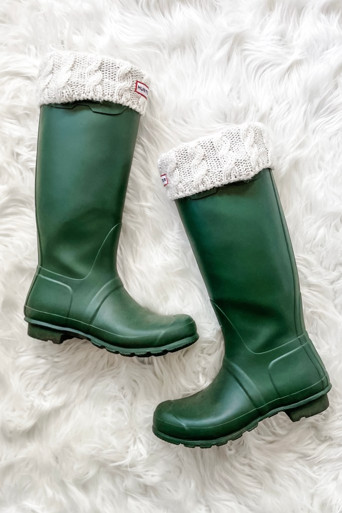 Best Shoes for Winter Weather -- Hunter Tall Rain Boots / Wellies