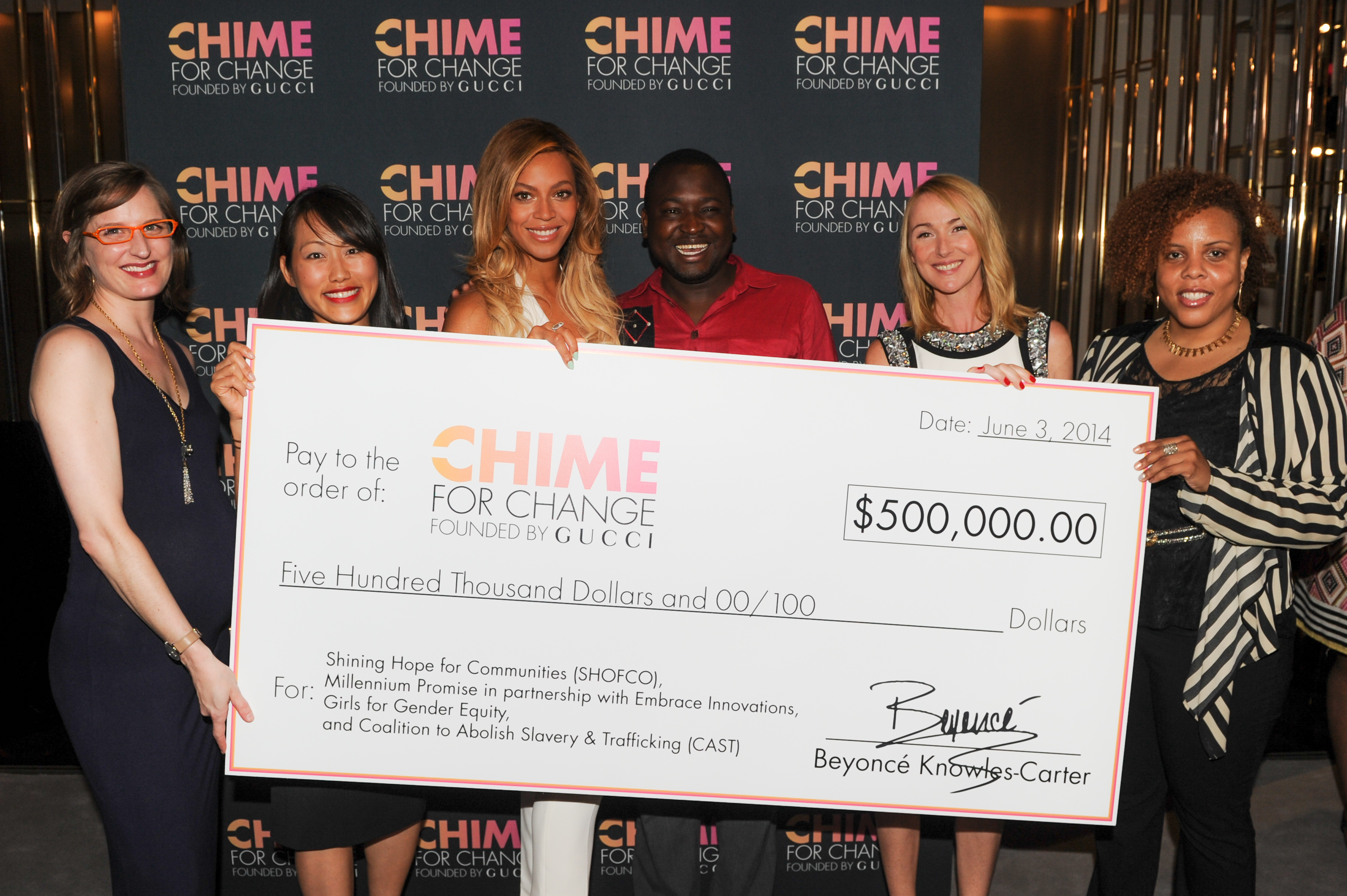 Charitable Contribution Beyonce Opens Wallet For Chime
