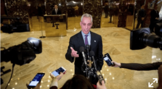 President elect Trumpp meets with chicago mayor emanuel updated