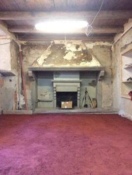 Terrazzo Boden frisch eingebracht - in einem Jahr kann er geschliffen werden.