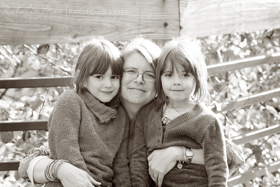 Mom and her girls for their fall Ann Arbor family portraits.