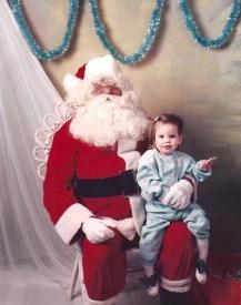 Grandpa Julius as Santa & Natalie