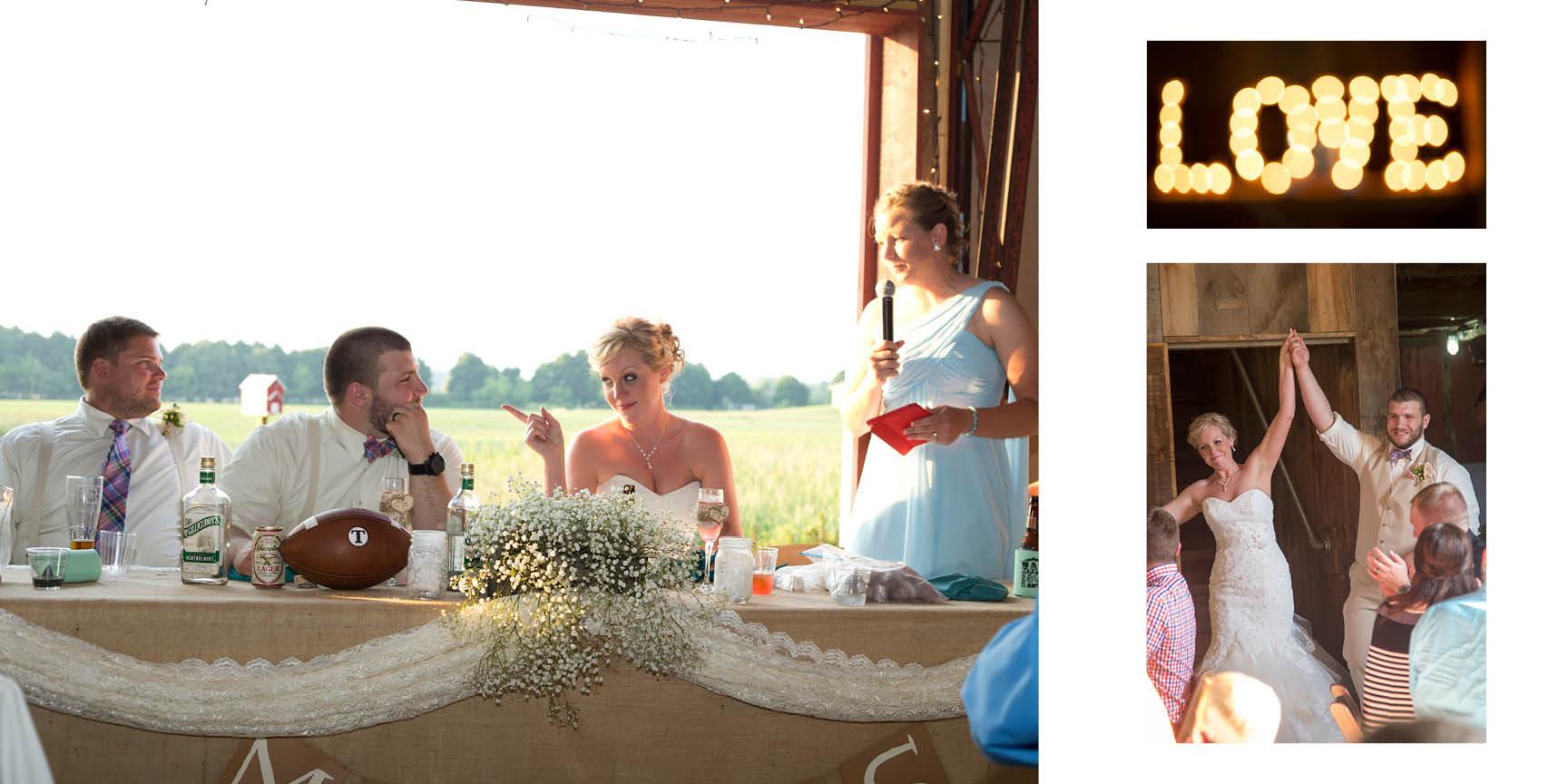 Ann Arbor wedding photographer captures the reception excitement.