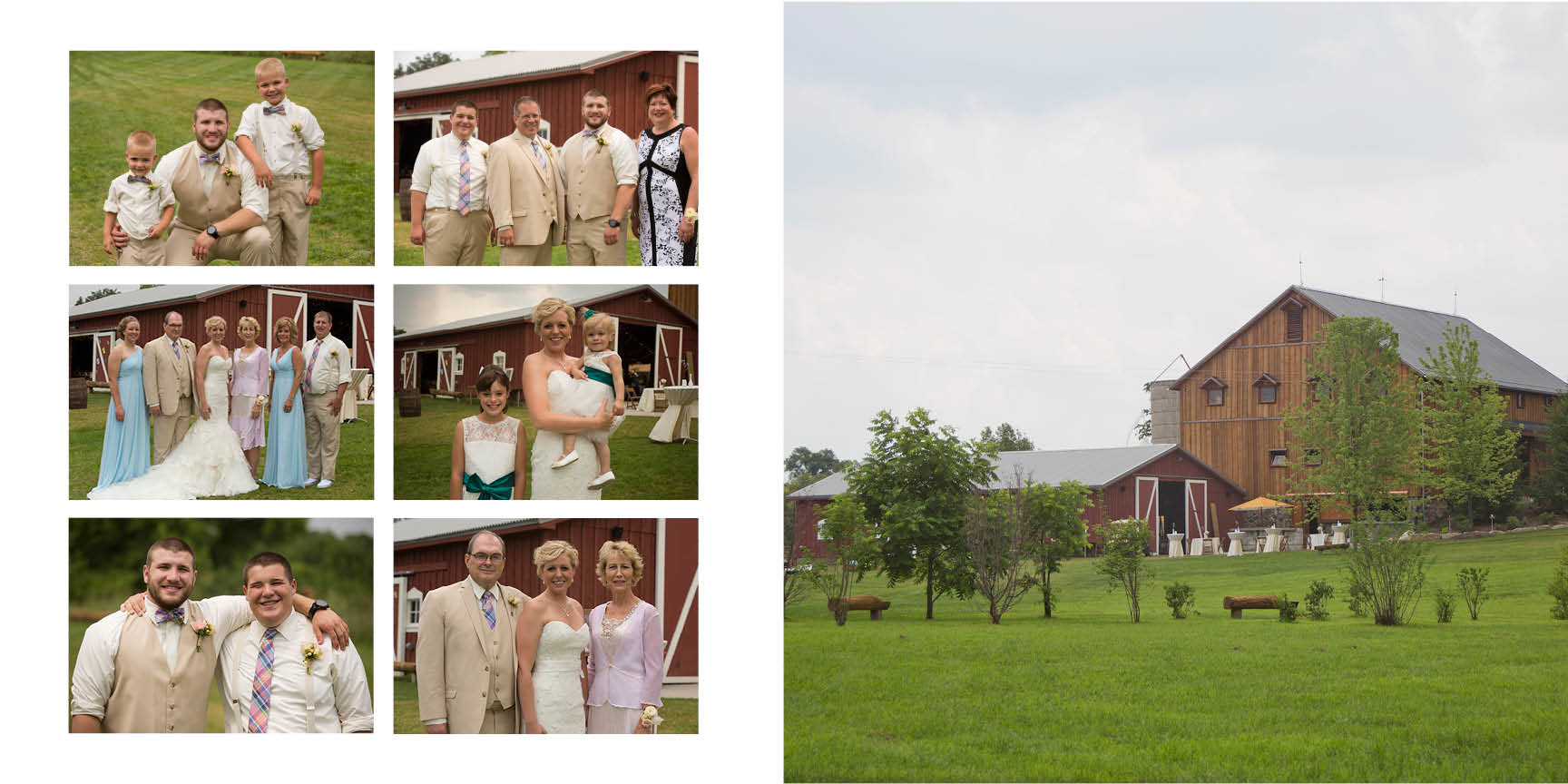 Ann Arbor wedding photographer, Natalie Mae captures the bride and grooms family.