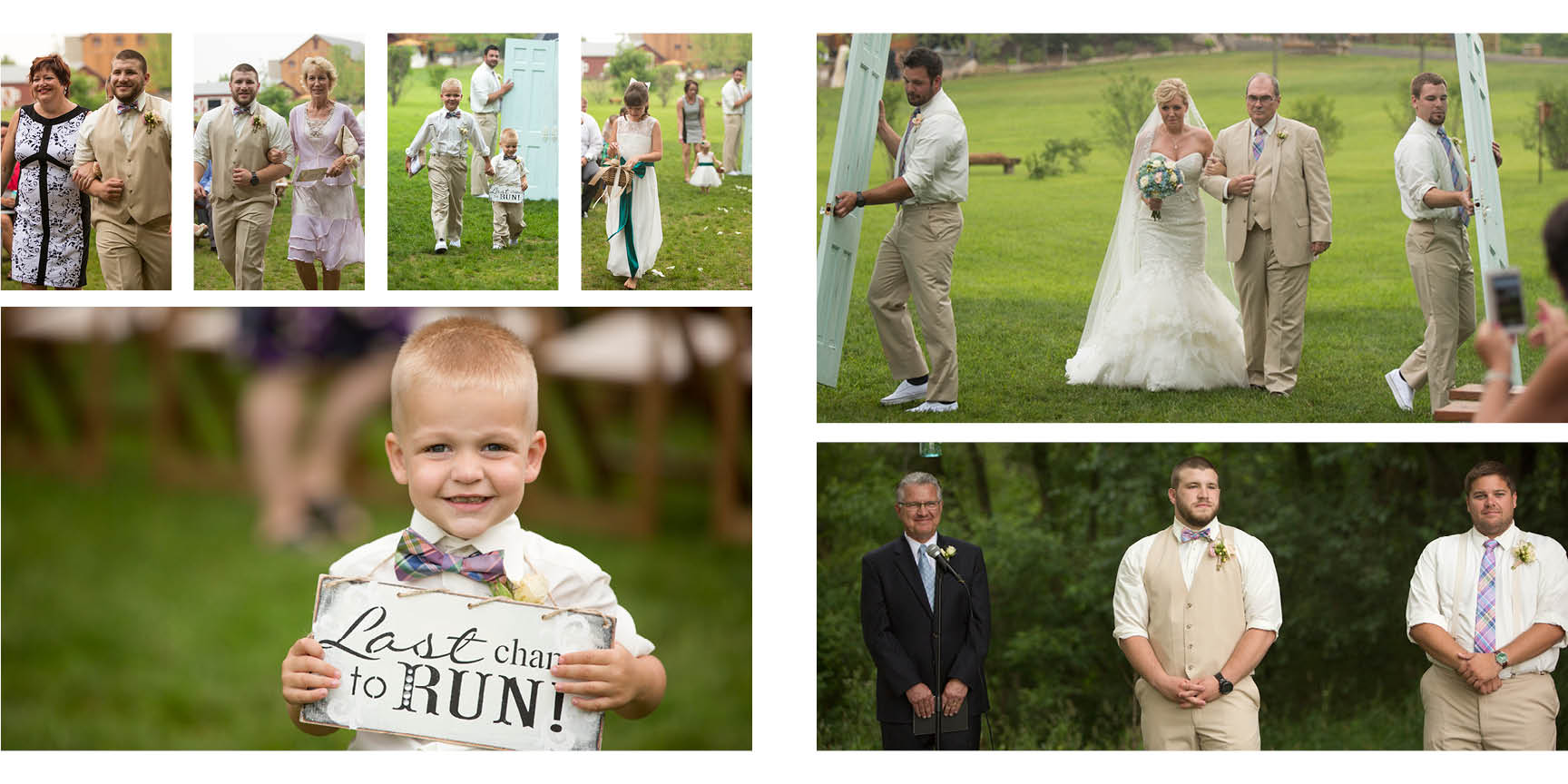Michigan wedding photographer captures raw emotion as the bride walks down the aisle.