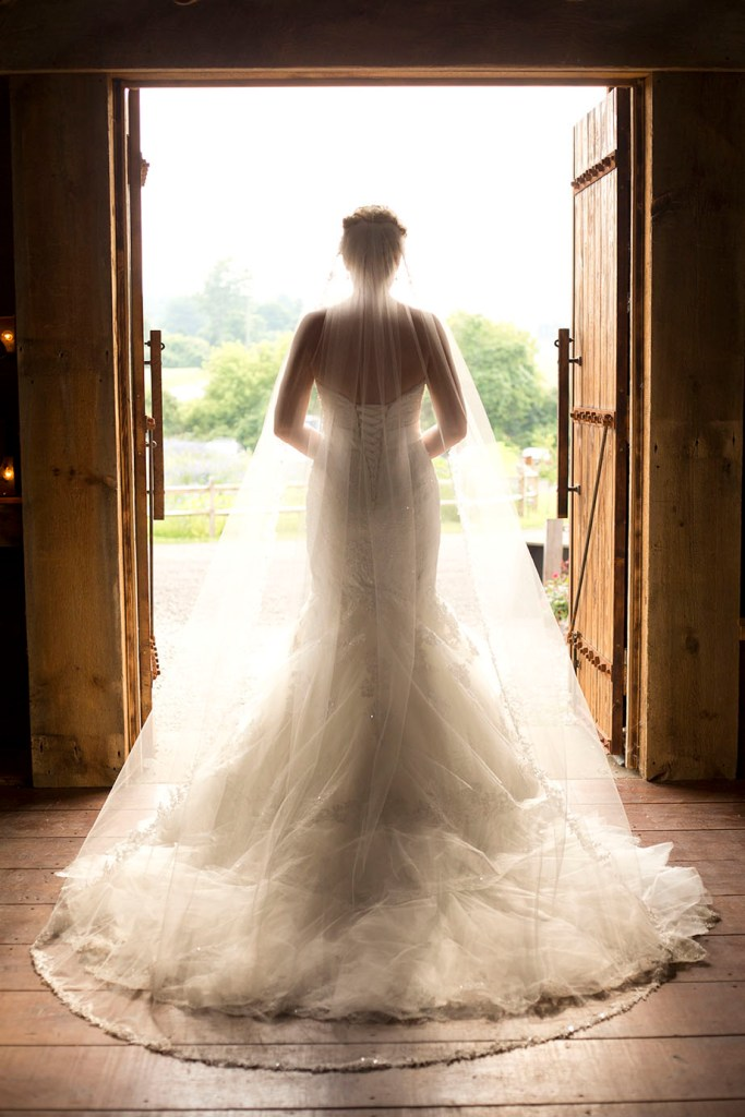 Bride silhouette Misty Farms