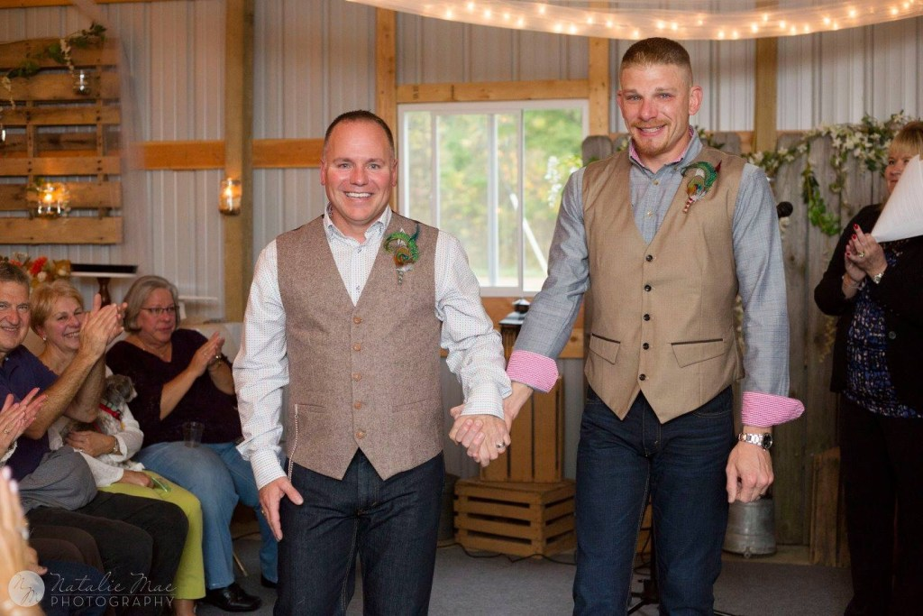 Gay elopement celebration