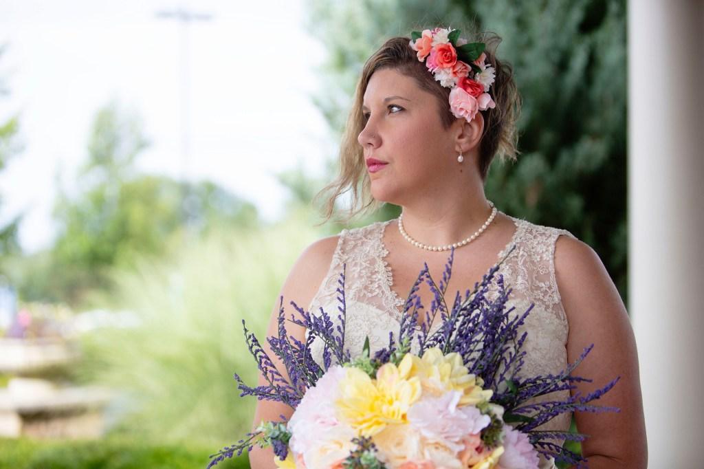 Emily looking stunning before her Novi wedding