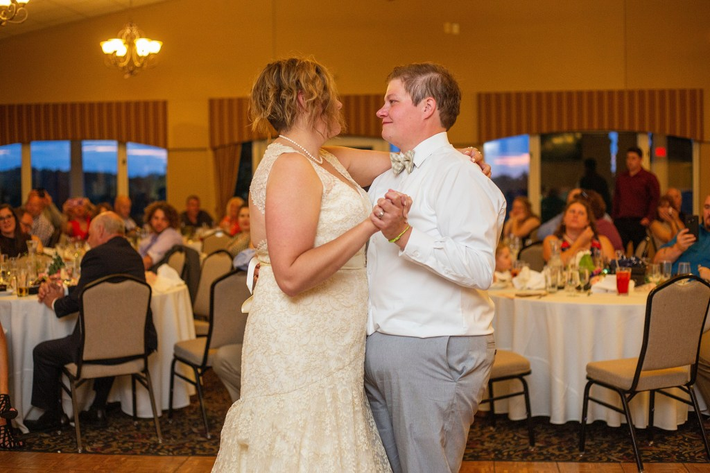 First dance at LGBTQ wedding