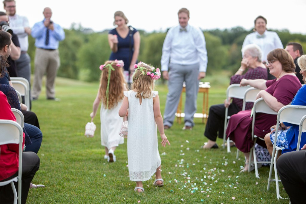 Flower girls at LGBTQ Novi wedding