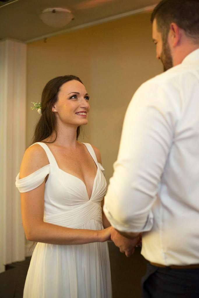 Kellyn smiling at her new husband