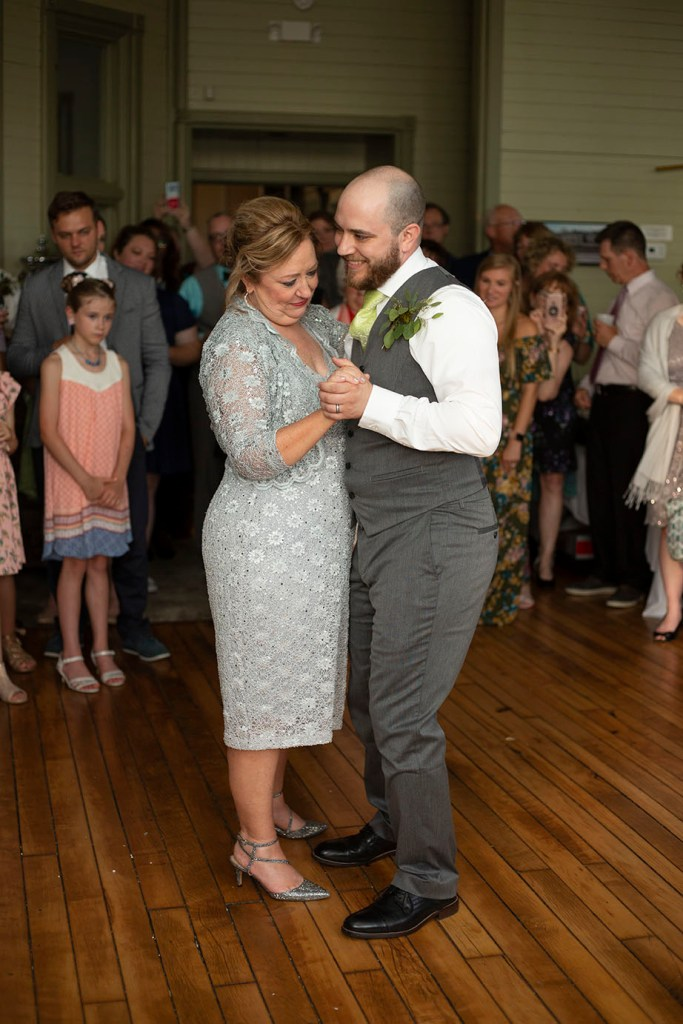 Mother and son dance at Chelsea Michigan wedding