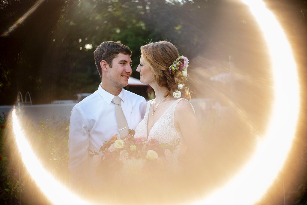 Ring of fire Belleville wedding couple