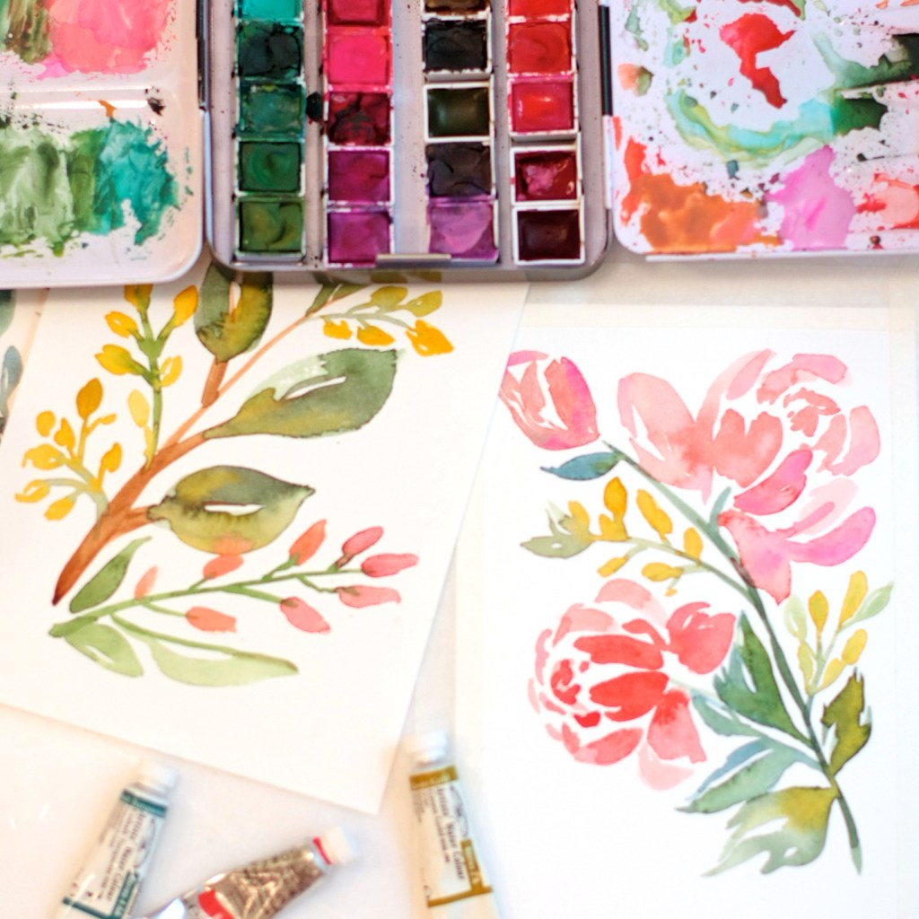 watercolor class florals pinners conference