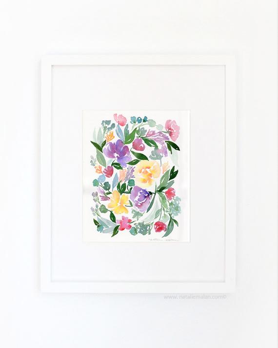 watercolor floral prints