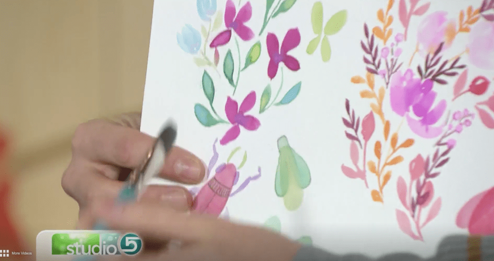 How to paint watercolor bugs tutorial DIY