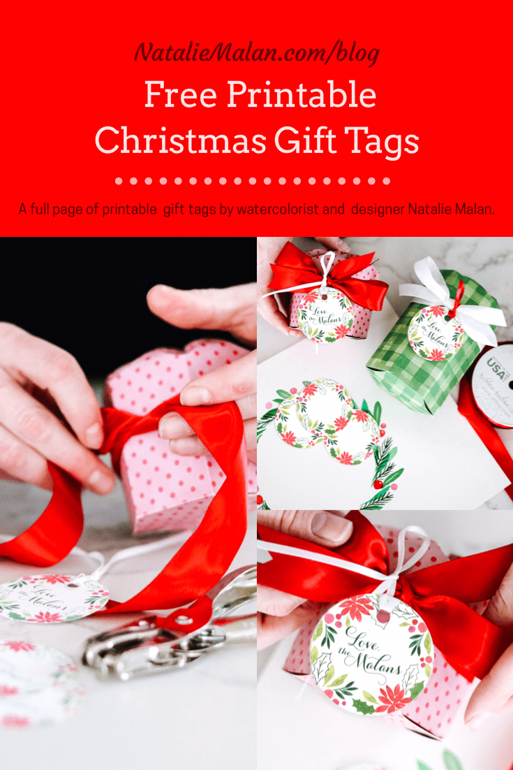 free watercolor gift tags