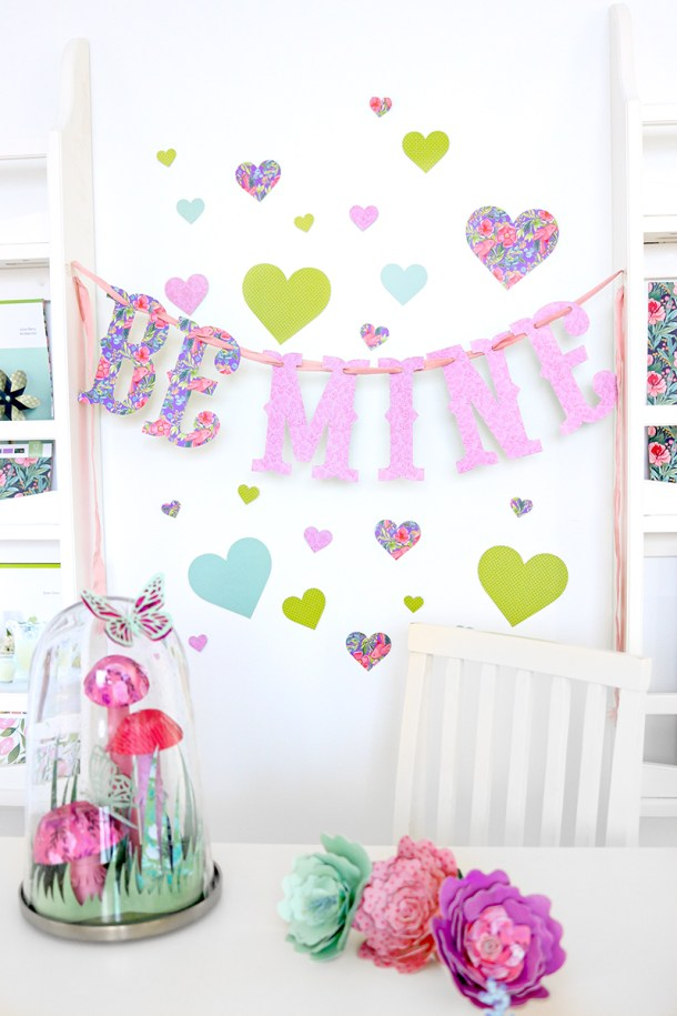 Free Cricut Valentine S Day Banner Decorations Natalie Malan