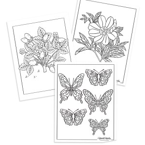Free Floral Coloring Pages