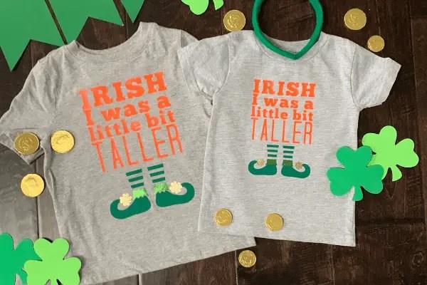 Custom 'Irish I was a Little Bit Taller' St. Patrick's Day Gift {Tutorial}