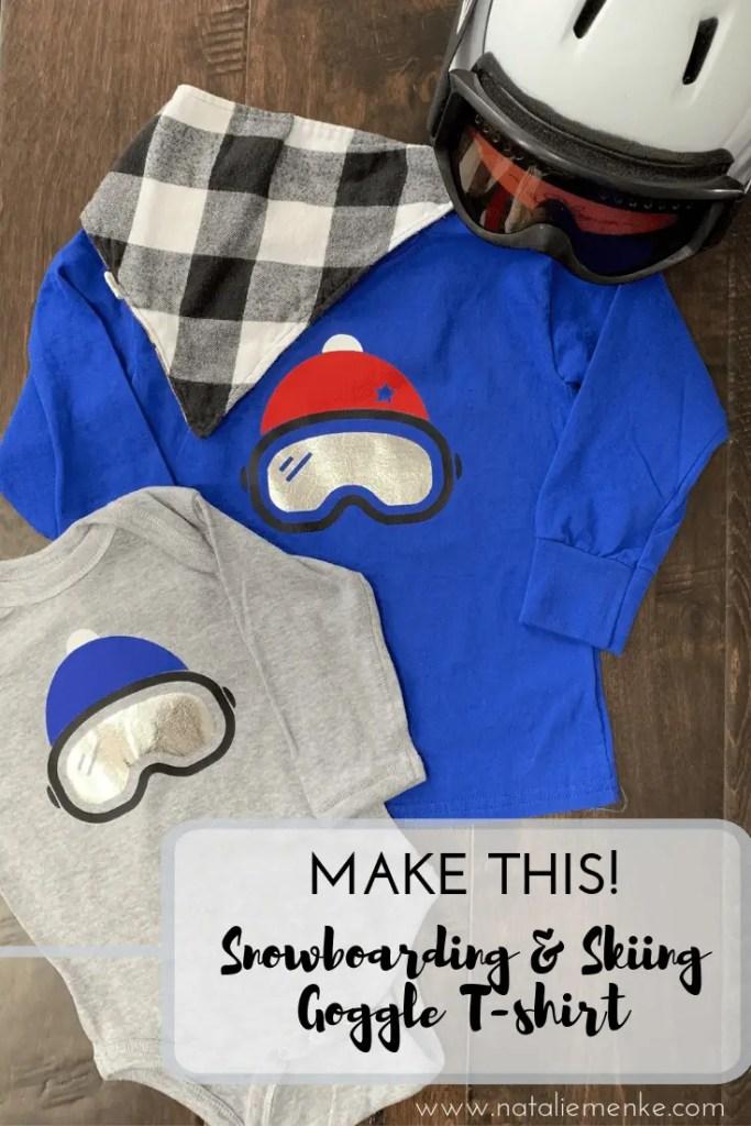 "Make this ""Snowboarding"" t-shirt using the Cricut tutorial at NatalieMenke.com"