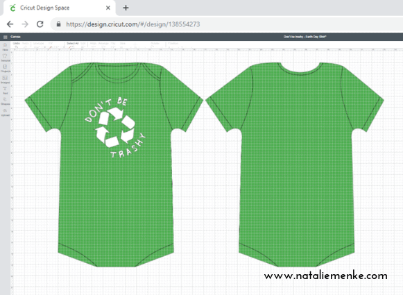 """Make this """"Don't Be Trashy"""" Earth Day shirt for your little hippie using the tutorial at www.nataliemenke.com"""