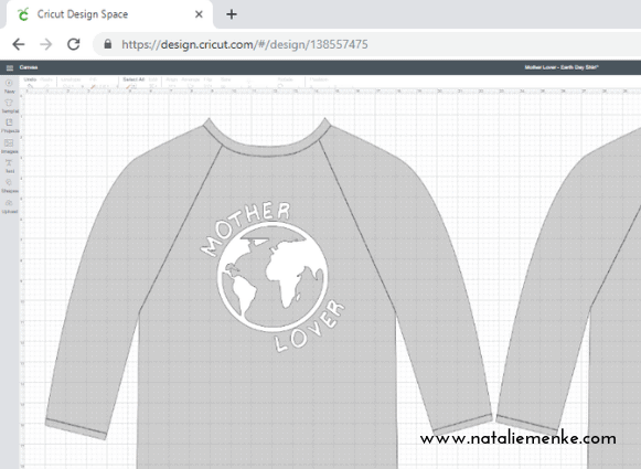 """Make this """"Mother Lover"""" t-shirt for Earth Day or Mother's Day using the Cricut Tutorial at www.nataliemenke.com"""