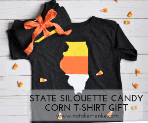 Easy Candy Corn T-shirt Tutorial for Halloween Gifts