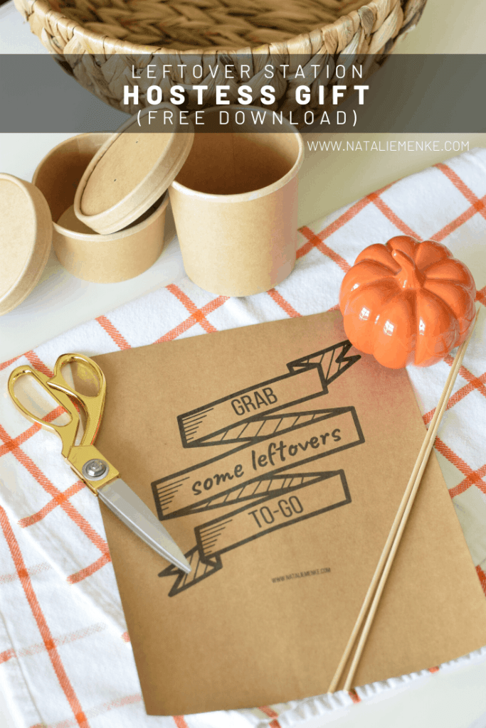 'grab some leftovers to go' sign free printable