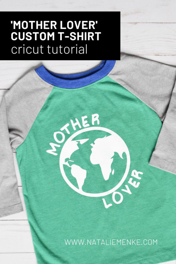 "Earth Day shirt with the words ""mother lover"" and a earth symbol"