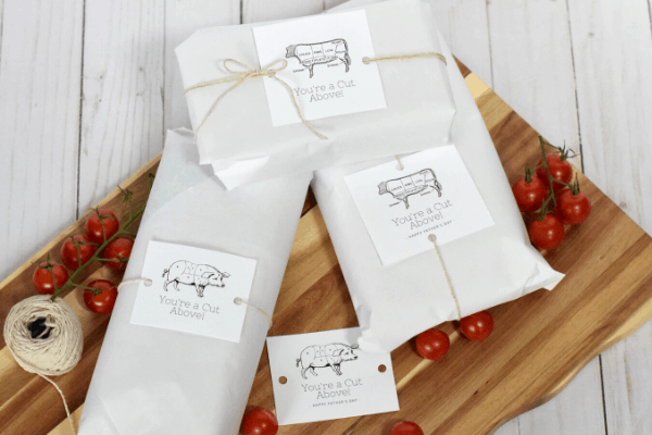 Grilling Themed Father's Day Gift with Free Printable Gift Tags