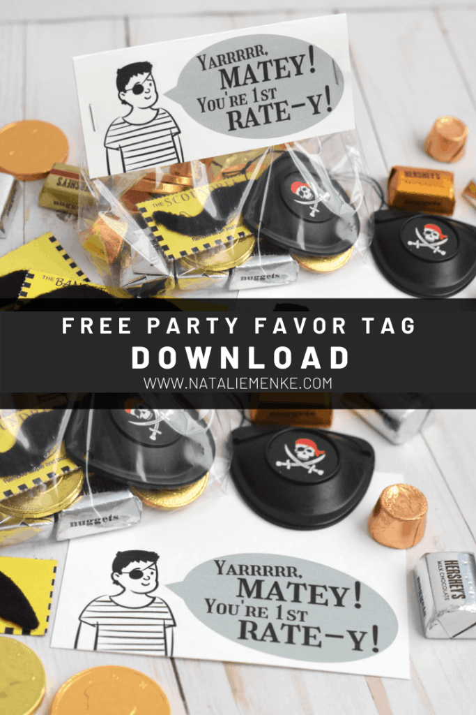 free gift tag download for pirate birthday party favors