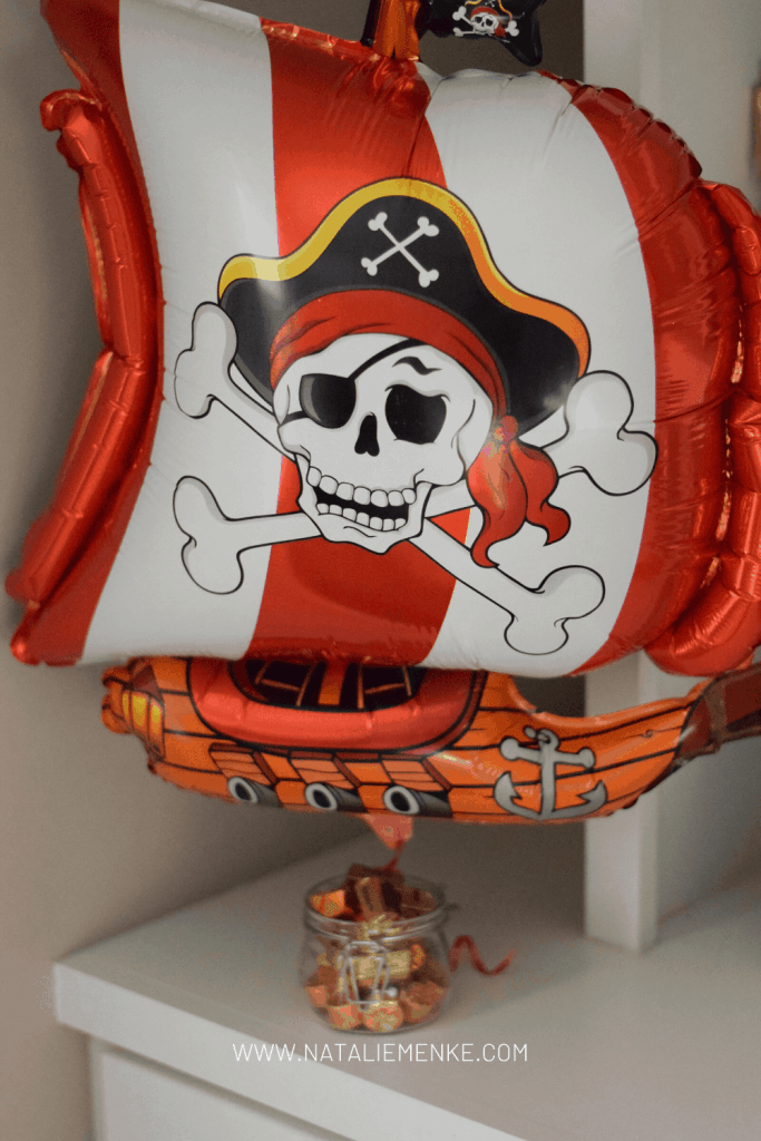 pirate birthday party decorations and pirate ship balloon