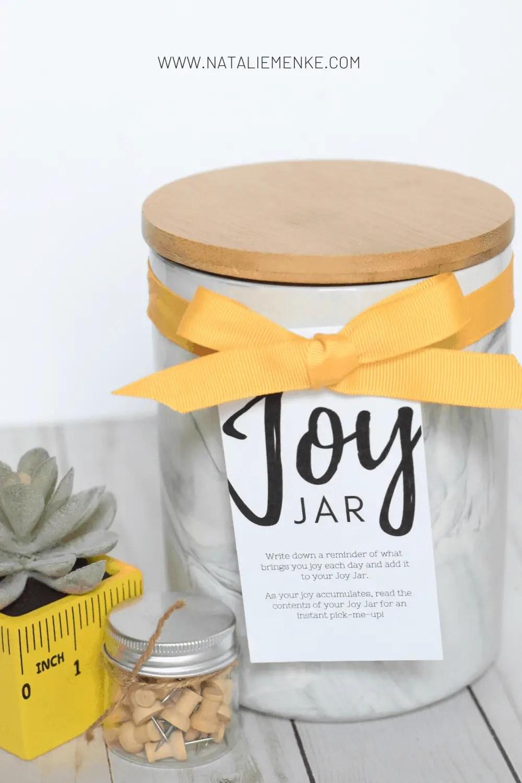 Joy Jar teacher gift tag