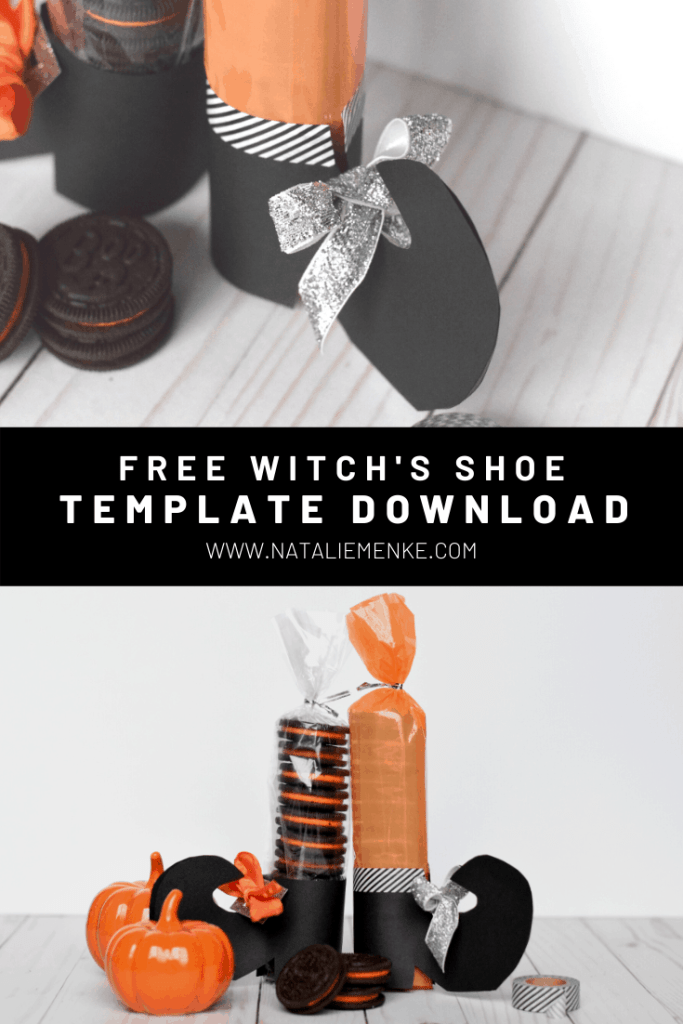 free witch's shoe template for Oreo Halloween treats