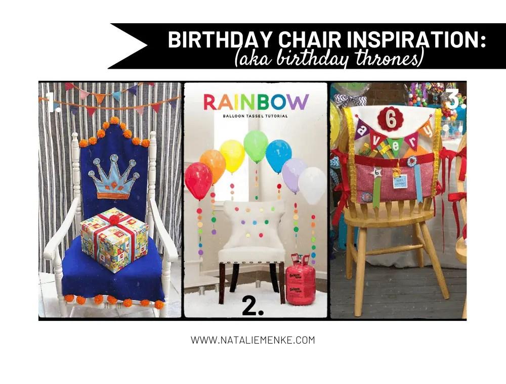 birthday chairs (aka birthday throne) inspiration: chair covers