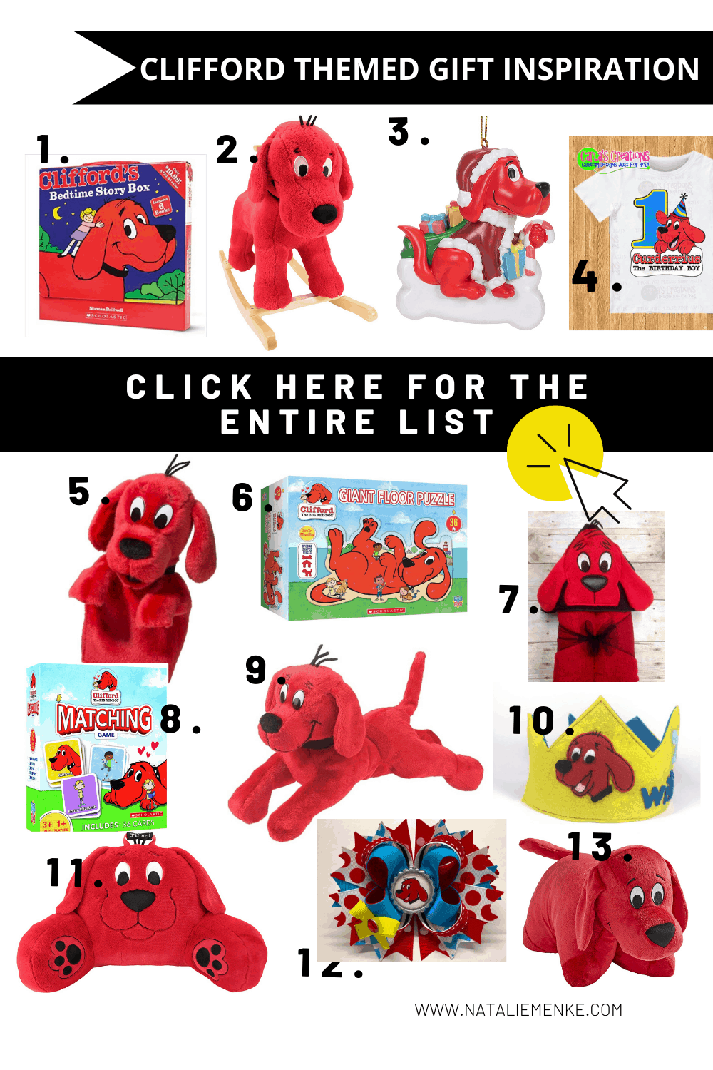 Clifford the Big Red Dog birthday gifts