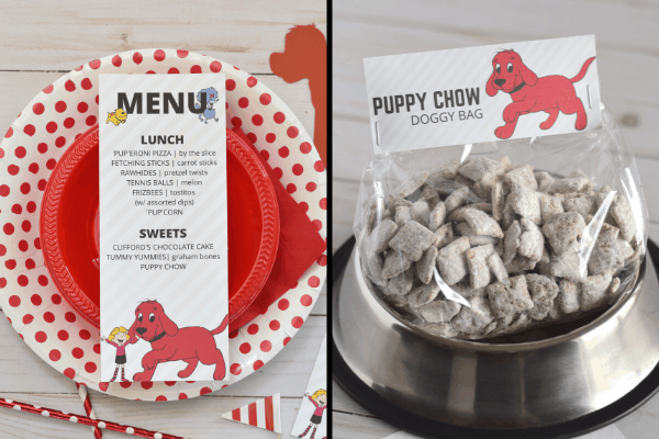 Clifford the Big Red Dog Birthday Party Printables