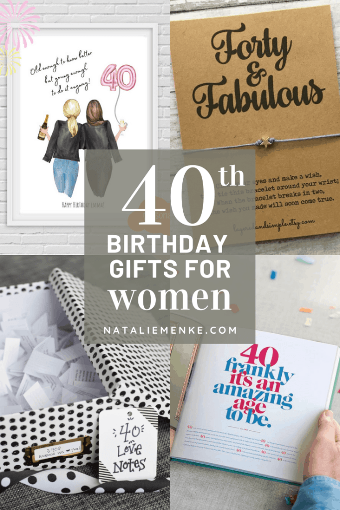 Happy 40th Birthday 40th Birthday Gift 40th Birthday Gift for Her