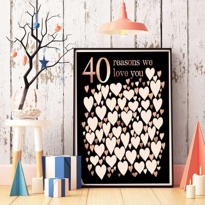 From the Rookery '40 Reasons We Love You' poster