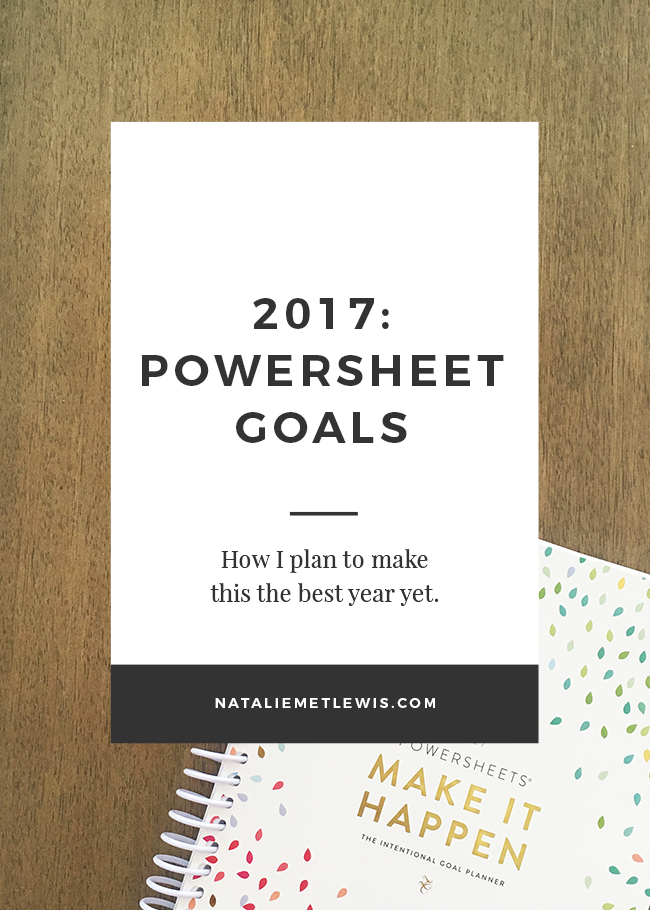 Powersheet Goals & Action Steps