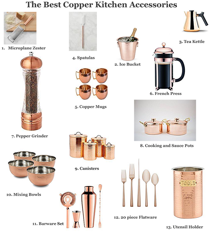 copper kitchen utensil holder pantry the best accessories natalie paramore