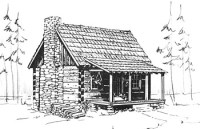 COUNTRY CABIN HOUSE PLANS  Floor Plans